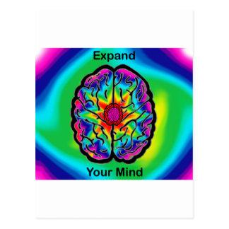 Amplíe su mente tarjetas postales