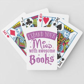 amplíele mente con los libros impresionantes baraja de cartas bicycle