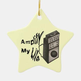 Amplifique mi vida adorno navideño de cerámica en forma de estrella