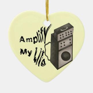 Amplify My Life Ceramic Ornament