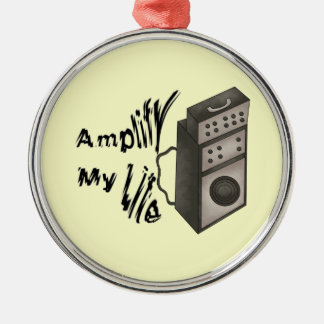Amplify My Life Round Metal Christmas Ornament