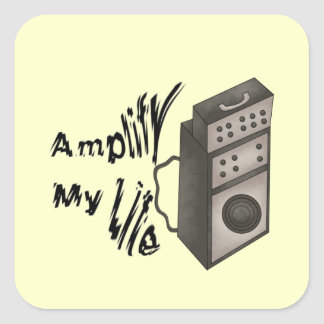 Amplify My Life Square Sticker
