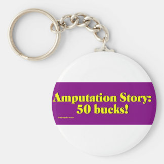 amputation_story basic round button keychain