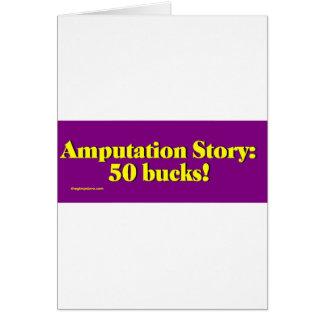 amputation_story greeting card