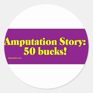 amputation_story pegatina redonda