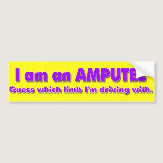 Amputee Driver Bumper Sticker