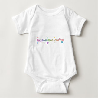 Amputees need love too baby bodysuit