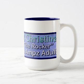 Ampz Radio Dj Christine coffe mug