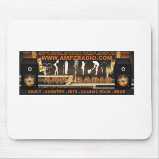 Ampz Radio family logo design with DJ names Mouse Pad