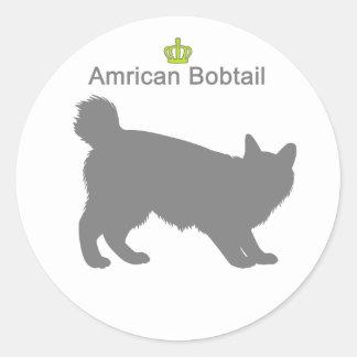Amrican Bobtail g5 Classic Round Sticker