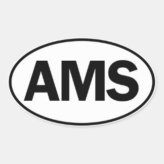 AMS Oval ID Oval Sticker