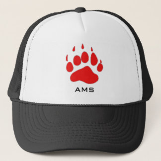 ams png red, AMS Trucker Hat