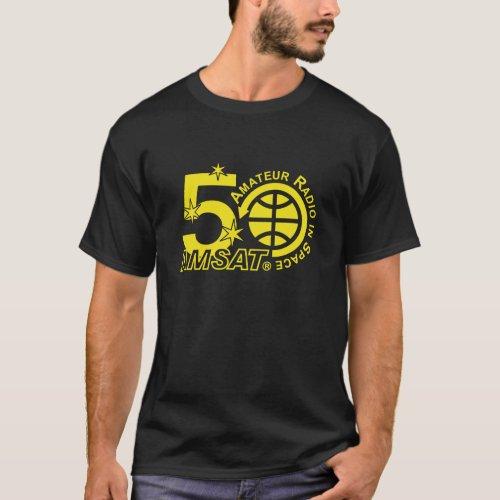 AMSAT 50th Anniversary Logo T_Shirt _ Dark