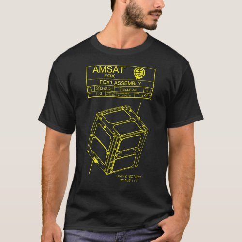 AMSAT Fox_1 Assembly T_Shirt _ Dark