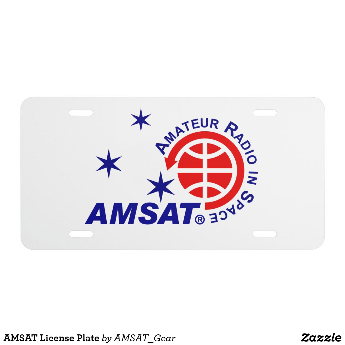 AMSAT License Plate