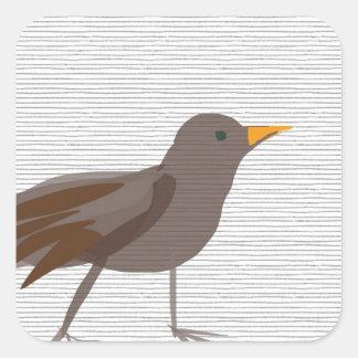 Amsel Bird blackbird SIRAdesign Square Sticker