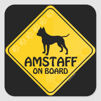 Amstaff Crossing [Xing] Square Sticker