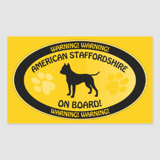Amstaff Crossing Xing Rectangle Stickers