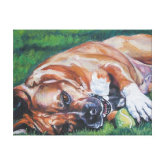 Amstaff Fine Art Painting on Wrapped Canvas