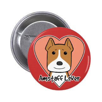 Amstaff Lover Button