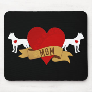 Amstaff Mom [Tattoo style] Mouse Pad