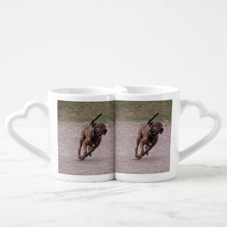 Amstaff running coffee mug set