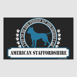 Amstaff Rectangular Sticker