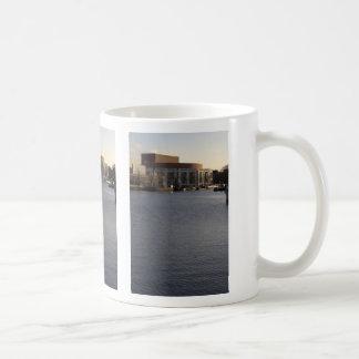 Amstel River and Amsterdam Music Hall Coffee Mugs
