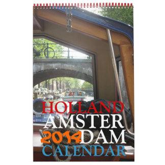 Amsterdam 2014 Holland Photos Wall Calendar