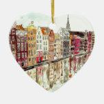 Amsterdam Adorno De Cerámica En Forma De Corazón