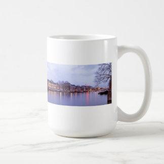 Amsterdam at the river Amstel at sunset Coffee Mug