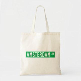 Amsterdam Av New York Street Sign Tote Bag