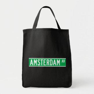 Amsterdam Av New York Street Sign Bags