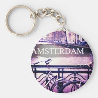 Amsterdam Basic Round Button Keychain