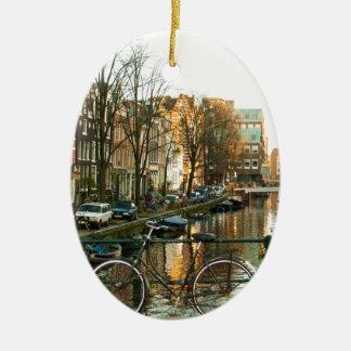 Amsterdam Bicicle Ceramic Ornament