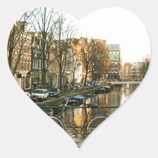 Amsterdam Bicicle Heart Sticker