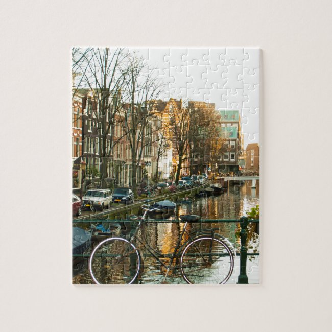 Amsterdam Bicicle Jigsaw Puzzle
