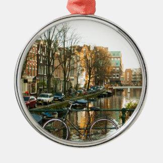 Amsterdam Bicicle Metal Ornament