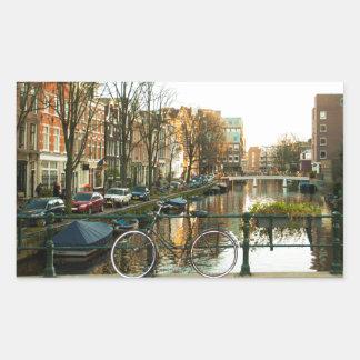 Amsterdam Bicicle Rectangular Sticker