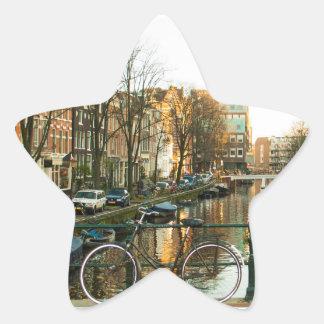 Amsterdam Bicicle Star Sticker