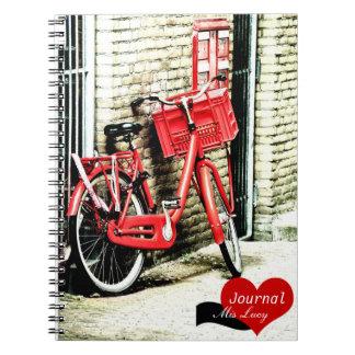 Amsterdam, bicicleta roja (cuaderno) notebook
