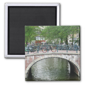 Amsterdam Bicycles Bridge Fridge Magnet