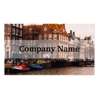 Amsterdam Canal and Architecture Business Card