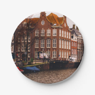Amsterdam Canal and Architecture Paper Plate