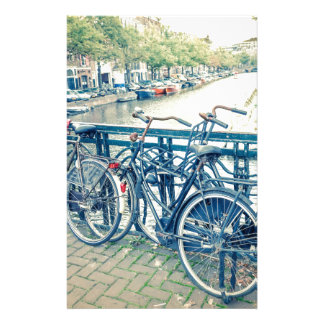 Amsterdam canal and bicycles stationery