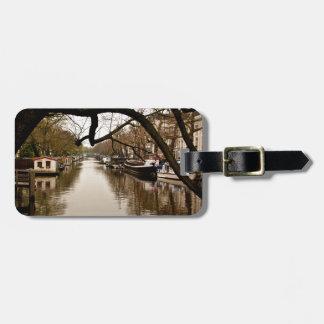 Amsterdam canal bag tag