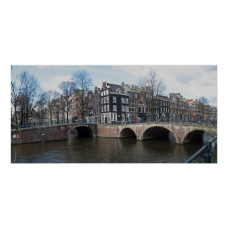 Amsterdam Canal Bridges Photo Poster