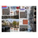 Amsterdam Canal House Papercraft Poster Print print
