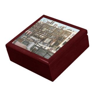 Amsterdam Canal Houses Fine Art Jewelry Box