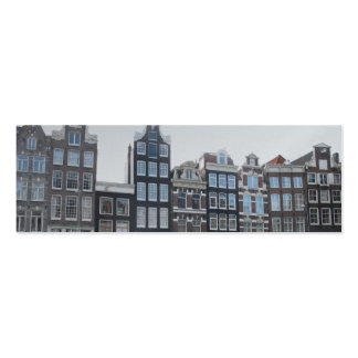 Amsterdam Canal Houses Photo Bookmark Mini Business Card